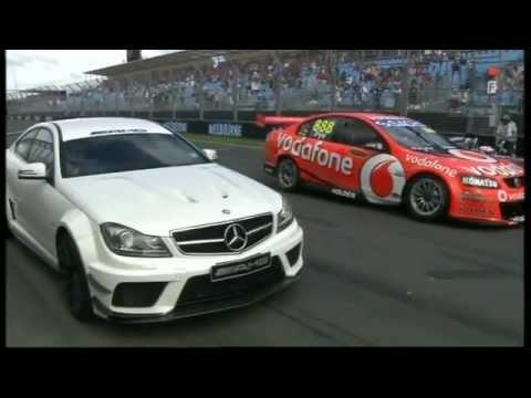 2012 F1 Australian GP - Mercedes Benz C63 AMG vs V8 Supercar vs McLaren MP4-26