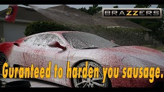 Italian Super Model Gets Wet - More Than You Can Afford Pal, Ferrari