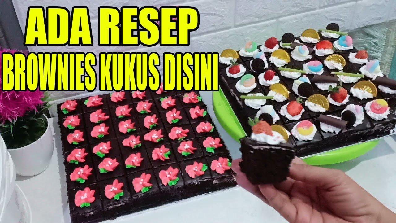 Resep Brownies Kukus Cake Potong Hias Youtube