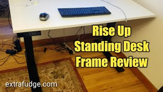 RISE UP electric adjustable height & width standing desk frame review