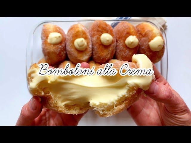 Bomboloni (krapfen o donuts) alla Crema