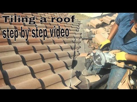 ROOFING TILES  INSTALLATION VIDEO...Anyone can do it ...try this !