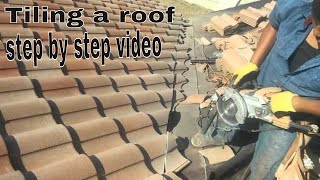 Tiling a roof :ROOFING TILES  INSTALLATION VIDEO...Anyone can do it ...try this !