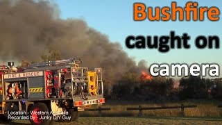 A Bush fire caught on camera - Put out within minutes by Firemen
