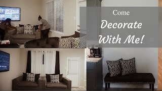 Come Decorate With Me | Hanging Curtains | Plus Size Vlog