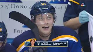 St Louis Blues Players Getting Hat Tricks