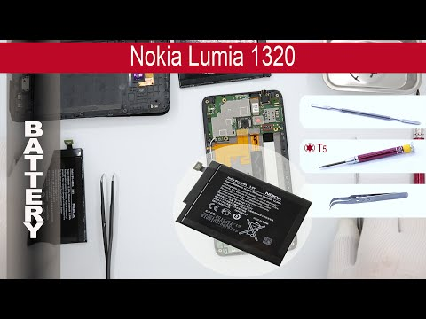 How to replace 🔧 🔋 📱 Battery Nokia Lumia 1320 RM-994, RM-995, RM-996
