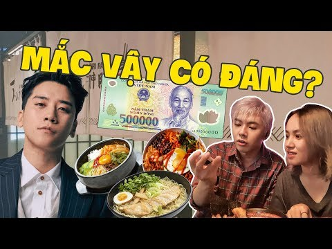 Lần đầu ăn quán mì SEUNGRI ở Sài Gòn : 500k cho 2 bát có đắt ???