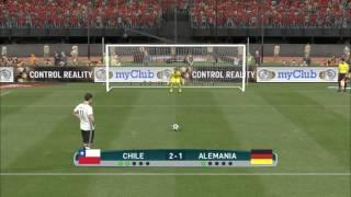 Simulación tanda de penales Chile vs Alemania | Pes 2017