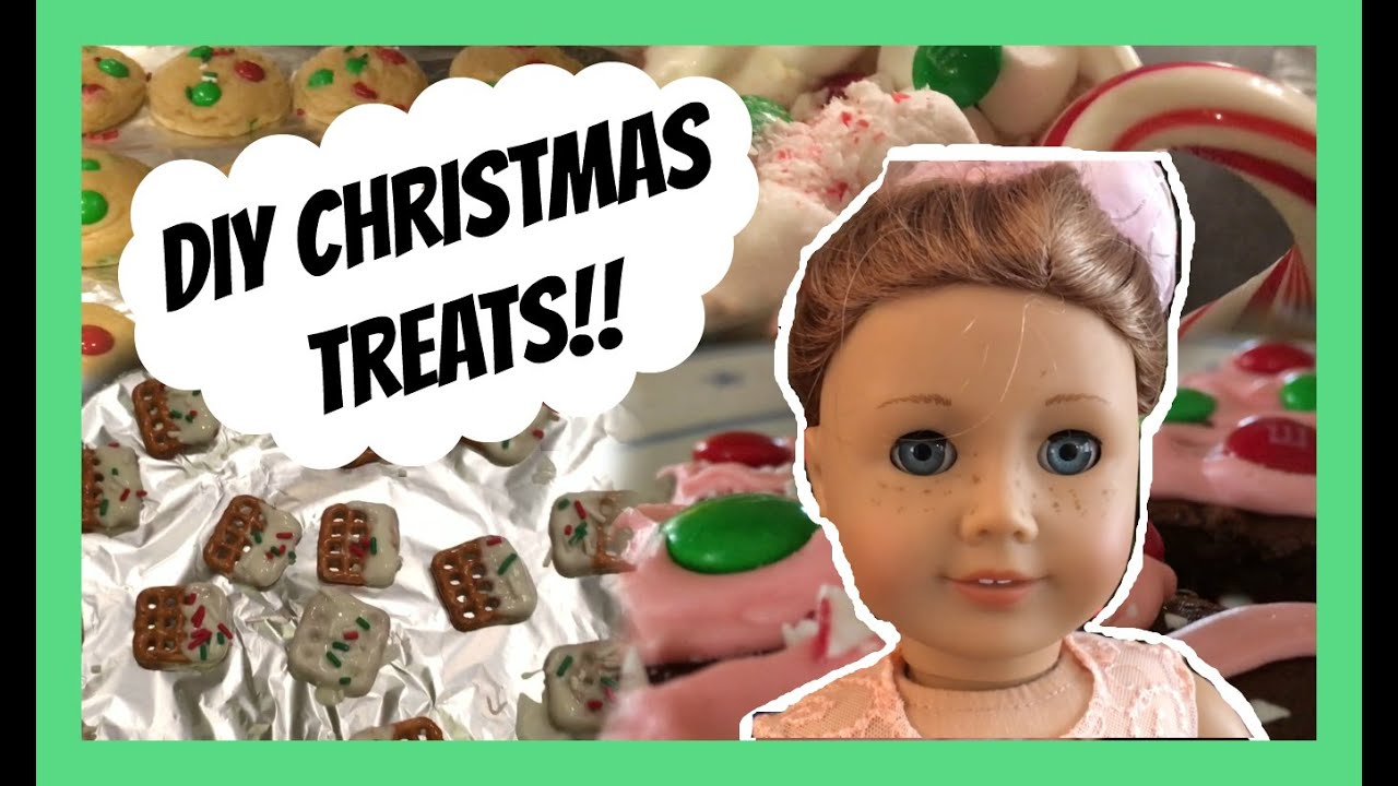 The american girl doll cooking show diy christmas treats youtube