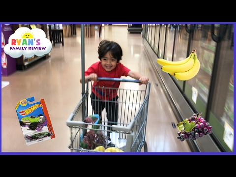 Thumbnail: Kid Size Grocery Shopping trip and learn how to count! Ryan's Family Review