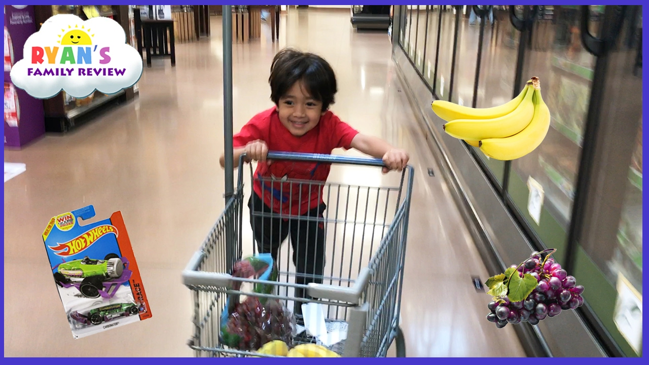 Kid Size Grocery Shopping trip and learn how to count! Ryan's Family Review