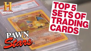 Pawn Stars: TOP 5 TRADING CARDS OF ALL TIME (Super Rare Pokemon Cards and More) | History