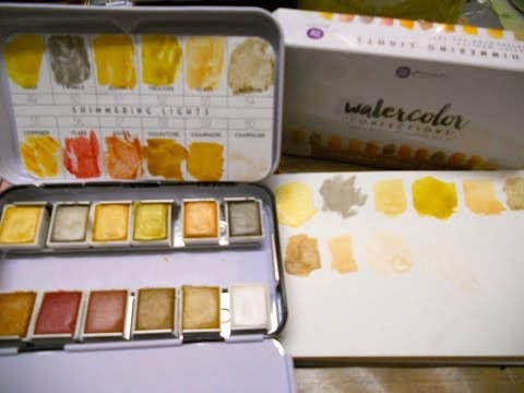 New Prima Shimmer Watercolor Pans