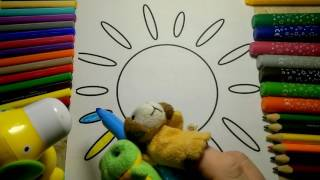 Coloring the RAINBOW The SUN in different colors