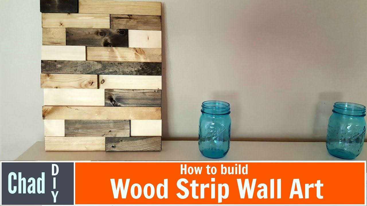 Wood Wall Art Diy diy wood strip wall art - youtube