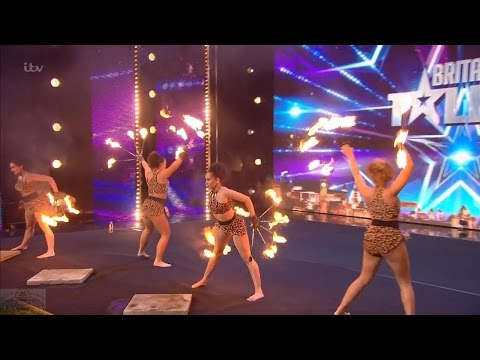 Britain's Got Talent 2016 S10E03 Bespoke Candi The Prehistoric Fire Dancers Full Audition