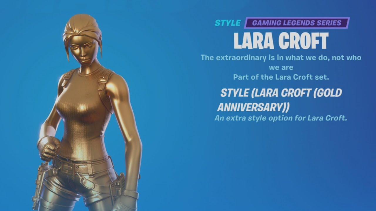 Download How to Unlock Gold Lara Croft Skin Location - Fortnite