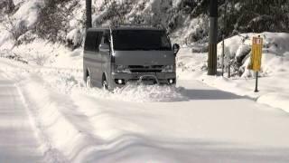 ハイエース 雪をかく thumbnail