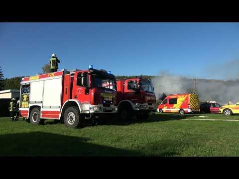 Schuppenbrand Setzt Gebäude In Brand Mit Durchzündung Rödlitz (Lichtenstein) Mehrere Verletzte