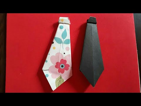 How to make a paper tie | easy origami neck tie for beginners  | DIY paper craft |