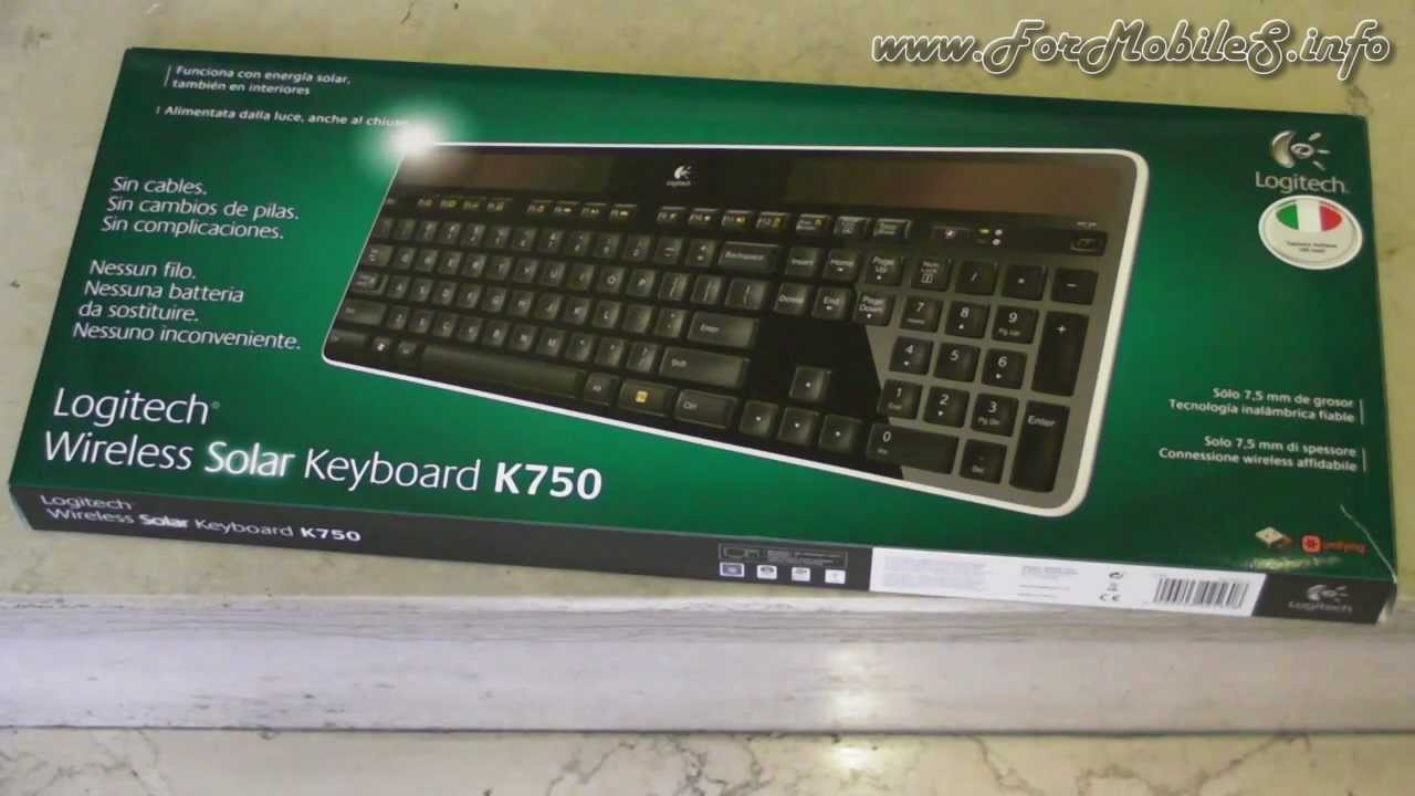 fb178da2ba2 Logitech Wireless Solar Keyboard K750 - Unboxing - YouTube
