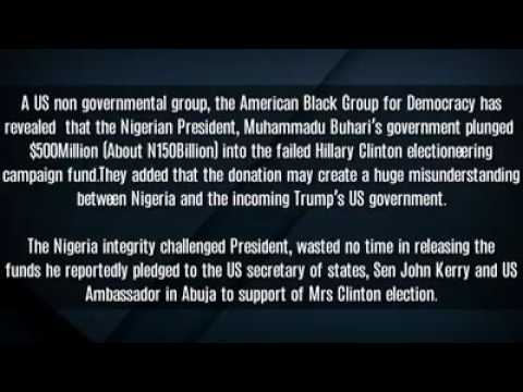 Breaking News. Nigerian Government Contributions to American Election