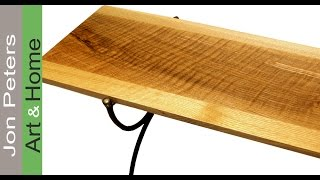 Make A Figured White Oak Bench Seat, For Steel Base