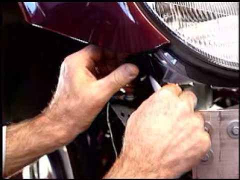 W203 headlight removal