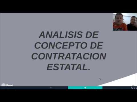 Análisis de conceptos de Contratación Estatal (Unisinu-Cartagena)