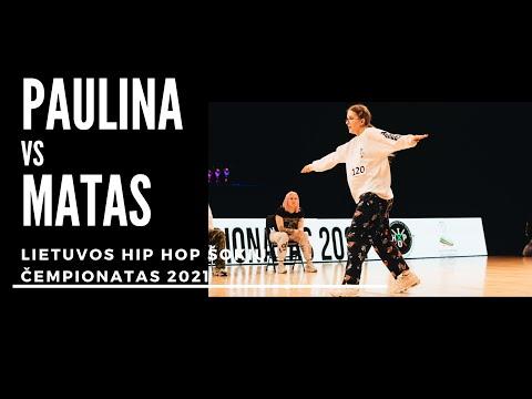Hip Hop šokių kovos | Adults Solo Mažasis Finalas PaulinaxMatas | Lietuvos Hip Hop čempionatas 2021