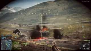 Battlefield 4 Tank Battle Gameplay - Golmud Railway