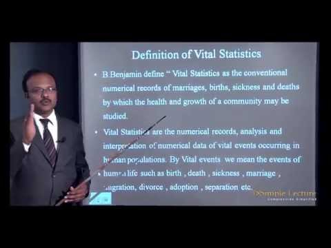 2nd PUC Statistics CHAPTER -1 Introduction To Vital Statistics