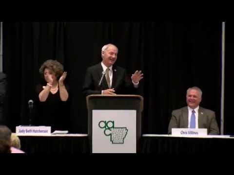 Gov. Asa Hutchinson at Association of Arkansas Counties Annual Conference