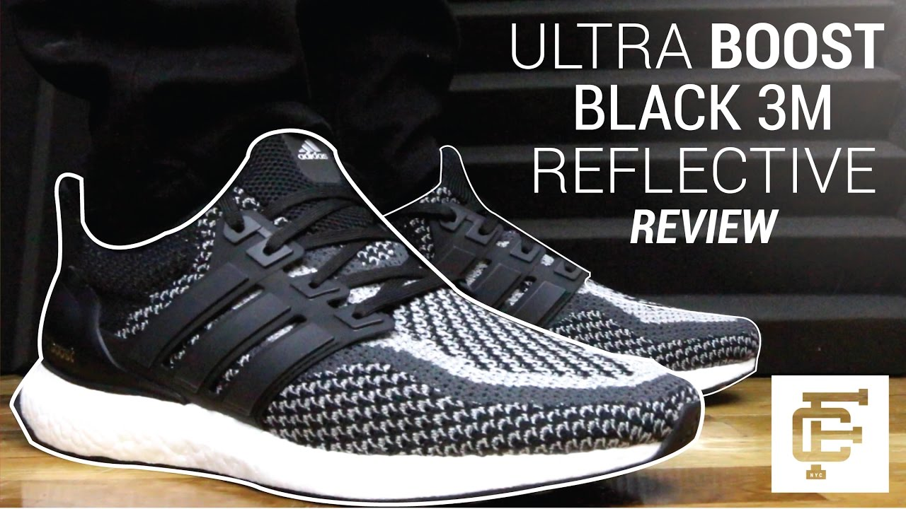57123b033 ULTRA BOOST 2.0 BLACK REFLECTIVE 3M REVIEW - YouTube