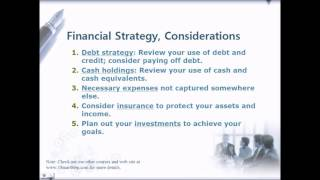 Personal Financial Planning, Financial Strategy