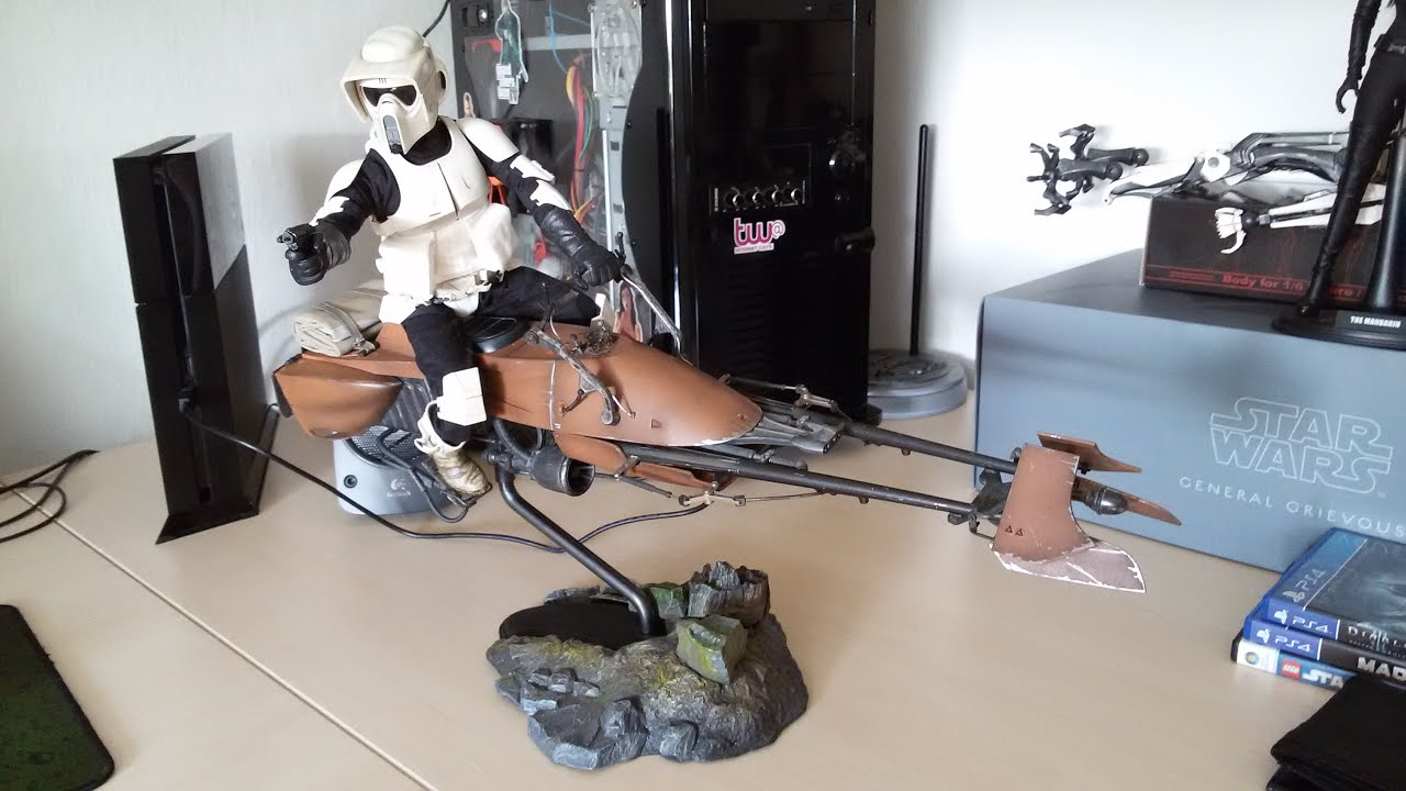 1 6 Scalescout Trooper Speeder Bike Sideshow Collectibles