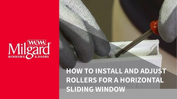 How to Install and Adjust Rollers on a Horizontal Vinyl Sliding Window