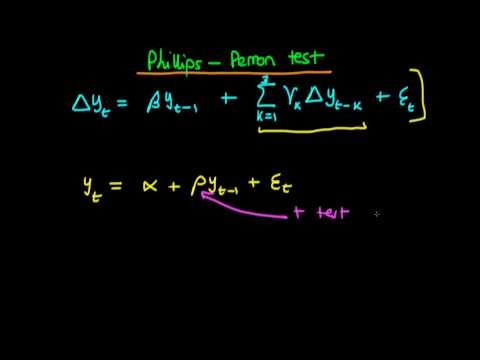 The Phillips-Perron test for a unit root - an introduction