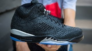 "Air Jordan 5 ""3Lab5"" Black/Metallic Silver Unboxing"