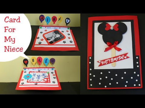 Diy Birthday Card For Kidsmaking Disney Cardmickey Mouse Card