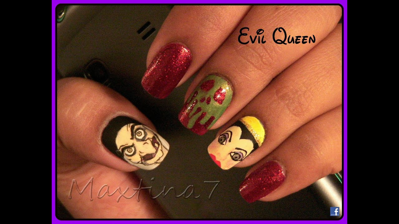 Evil Queen Nails (from Snow White) - YouTube