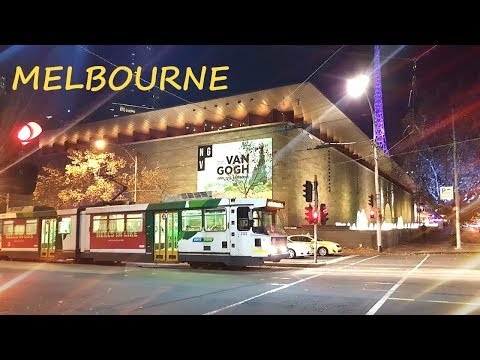 Melbourne City at Night - Victoria Australia