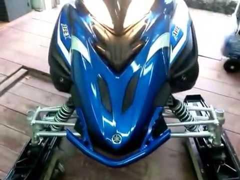 Снегоход Yamaha Apex XTX (работа двигателя)