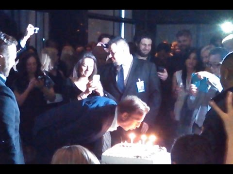 Kevin Costner 60th birthday cake at BLACK OR WHITE premiere party