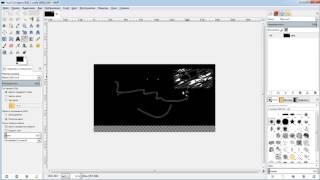 GIMP занятие 07 Как залить цветом нужную облать