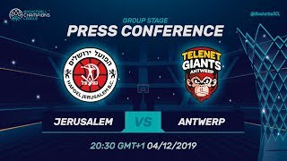Hapoel Jerusalem v Telenet Giants Antwerp - Press Conference - Basketball Champions League 2019-20