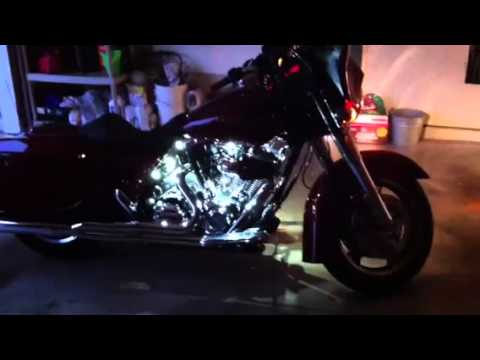 2009 street glide w led lights youtube. Black Bedroom Furniture Sets. Home Design Ideas