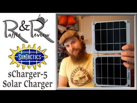 Suntactics sCharge5 Solar Charger ~ Gear Raffle & Review with the Hiking Viking