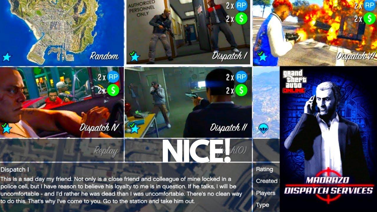 Madrazo Dispatch 1 Martin Mission Jobs GTA 5 Online Update